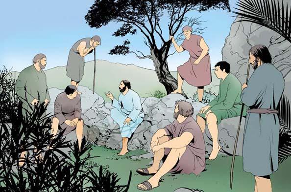 Jésus-Christ enseigne les apôtres