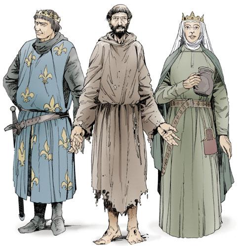 San Francesco d'Assisi, San Luigi e Santa Elisabetta